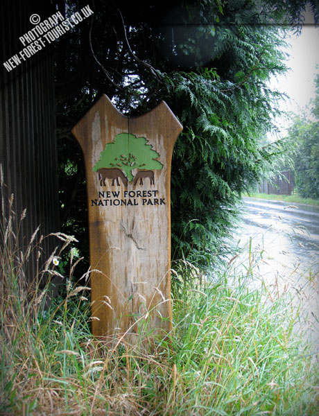 The New Forest National Park Boundary Marker at Bowling Green