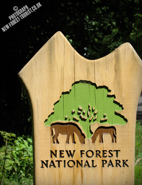 The New Forest National Park Boundary Marker at Sway Road, Tiptoe