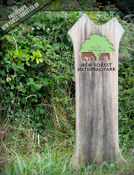 The New Forest National Park Boundary Marker at Bransgore Church