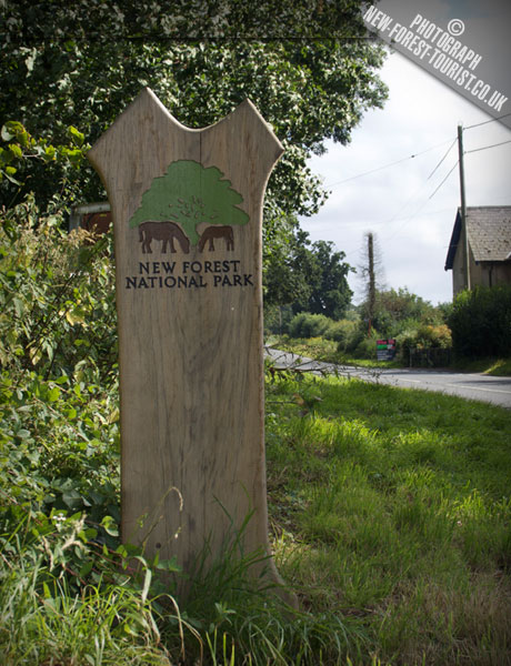 The New Forest National Park Boundary Marker at B3347 Bisterne