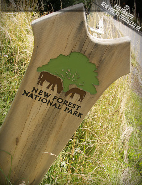 The New Forest National Park Boundary Marker at Near Frogham