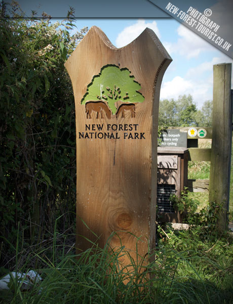 The New Forest National Park Boundary Marker at Avon Valley Path