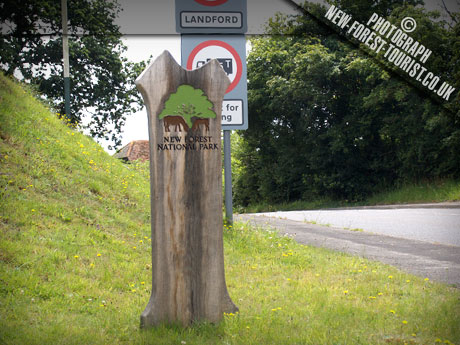 The New Forest National Park Boundary Marker at B3079 Landford