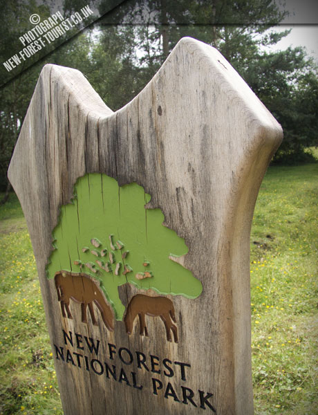 The New Forest National Park Boundary Marker at Blackhill Road