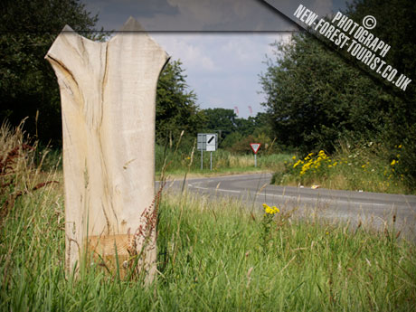 The New Forest National Park Boundary Marker at A35 Hounsdown