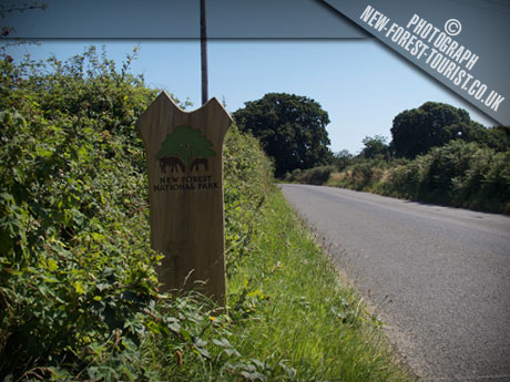 The New Forest National Park Boundary Marker at 40 Lepe Road Langley