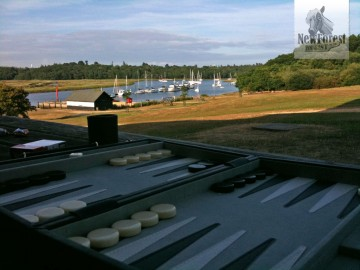 Backgammon at Buckler's Hard over a Pint
