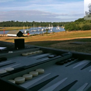 Backgammon at Buckler's Hard