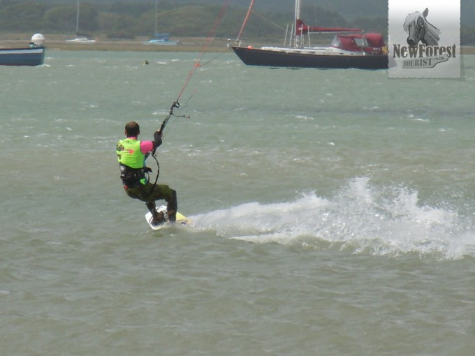 Kite surfing inside Hurst Spit