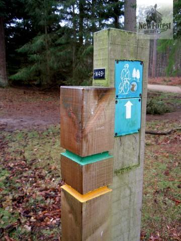 Wilverley Footpath Waypoint Marker