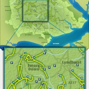 Cycle path map