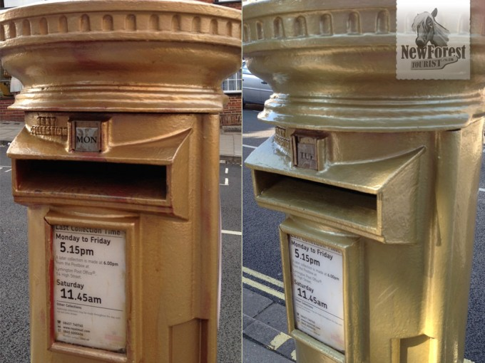 Gold Letterbox before and after