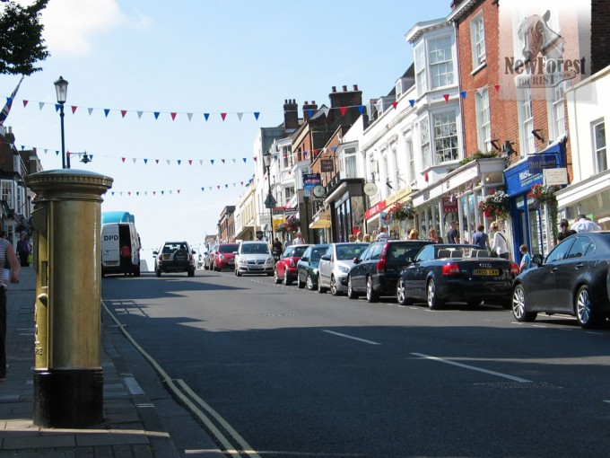 Gold letterbox in Lymington for Ben Aislie
