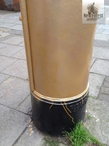 Unauthorised Gold Letterbox