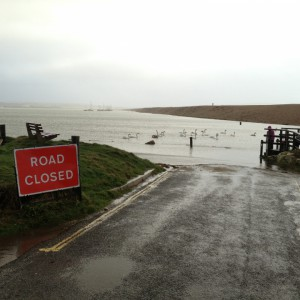 Hurst Spit Road Closed