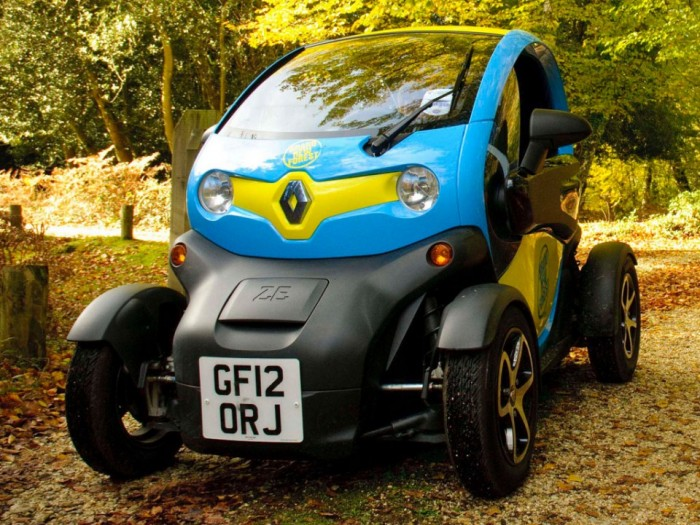 The Twizy electric car in the New Forest
