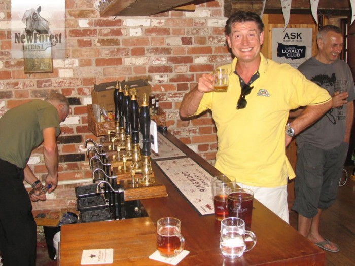 An extremely pleased Mark Allen of NFOL at the Ringwood Brewery bar.
