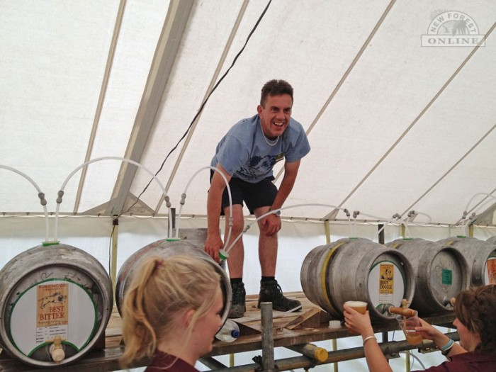 Second Brewer, Maurice Walton, working on the casks at The Commoners Drift run by Ringwood Brewery