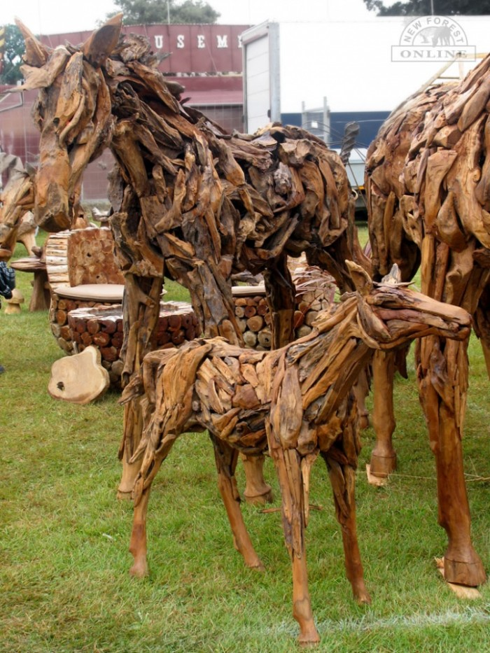 Wooden New Forest Ponies