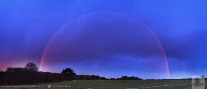 Rainbow over Longslade Bottom